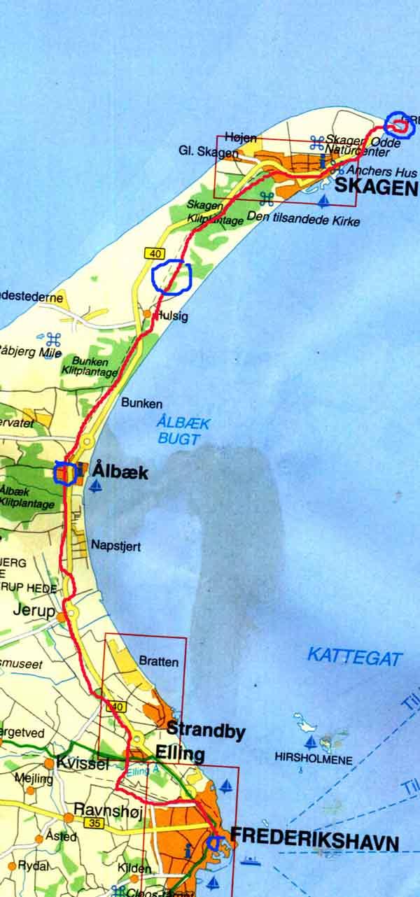 karta över skagen danmark prova den goa cykelbanan från Frederikshavn till Skagen karta över skagen danmark